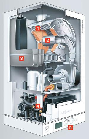 Schema Centrala termice in condensatie Viessman Vitodens 100 W 35 kW