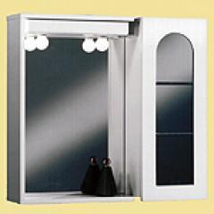 poza Dulap baie din lemn alb cu 1 usa si oglinda