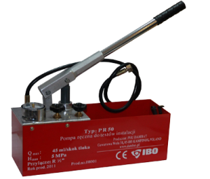 poza Pompa cu piston pentru testarea presiunii in instalatii IBO-POLONIA